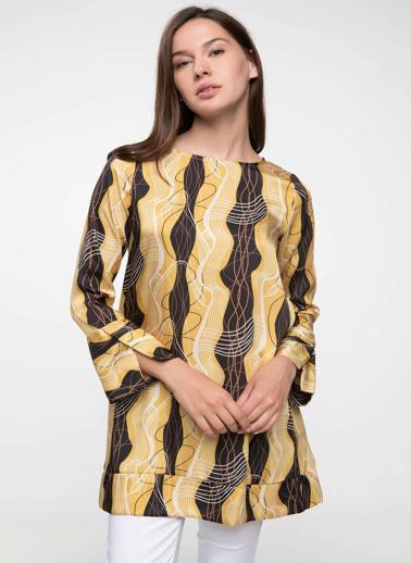 DeFacto Desenli Tunik Sarı